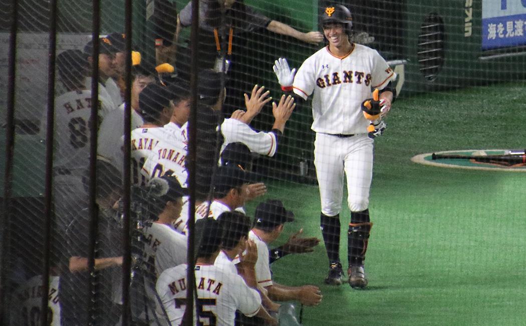 東京ドームでプロ入り初ホームランを放った、ジャイアンツの育成021黒田響生