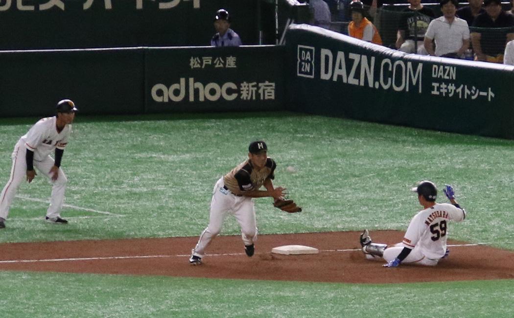 松原聖弥は3塁打を含む3安打と打撃好調をアピールした