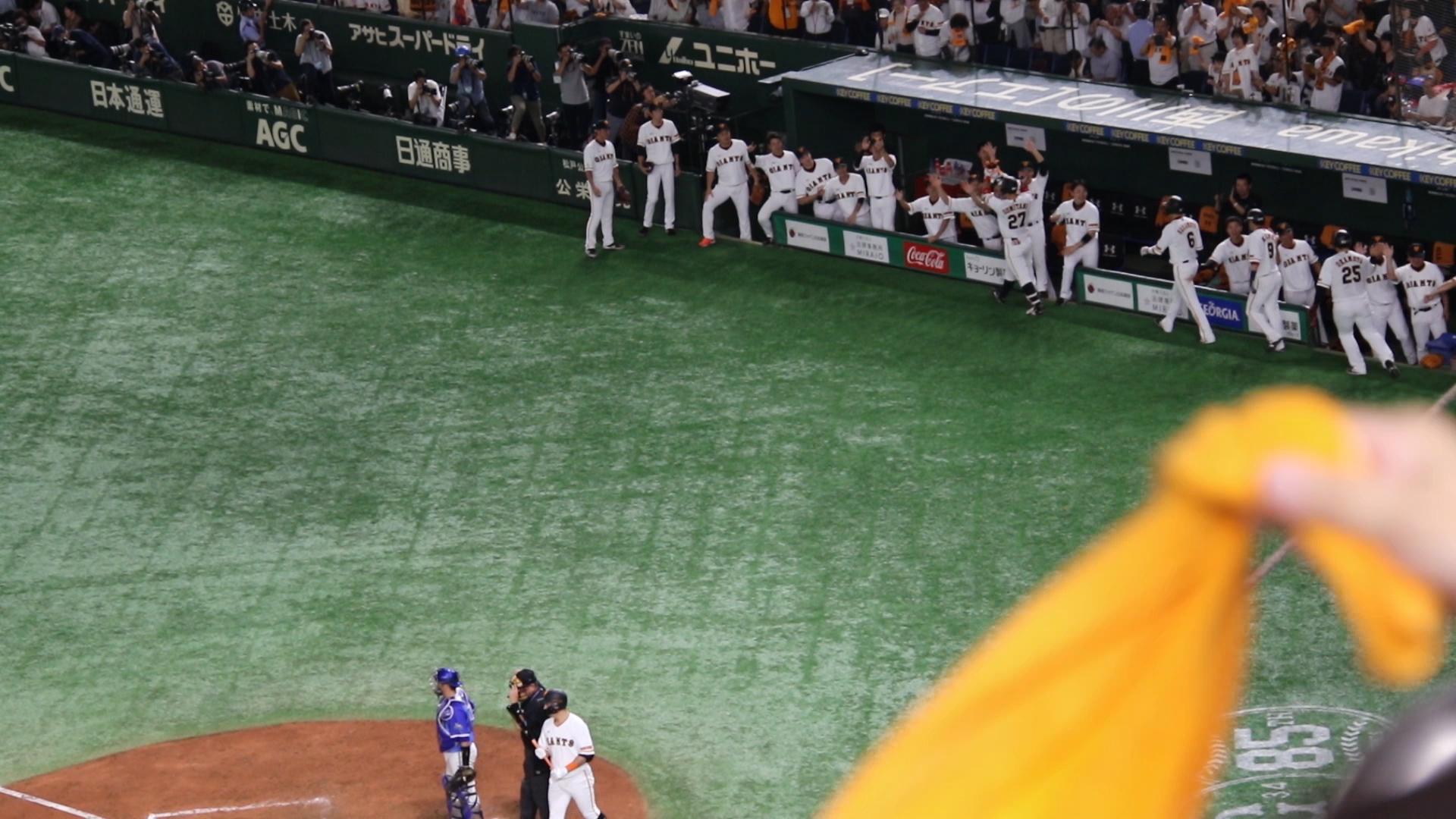 2019.9.27 ありがとう慎之助 5回裏、炭谷銀仁朗の満塁ホームランで4点の勝ち越し!