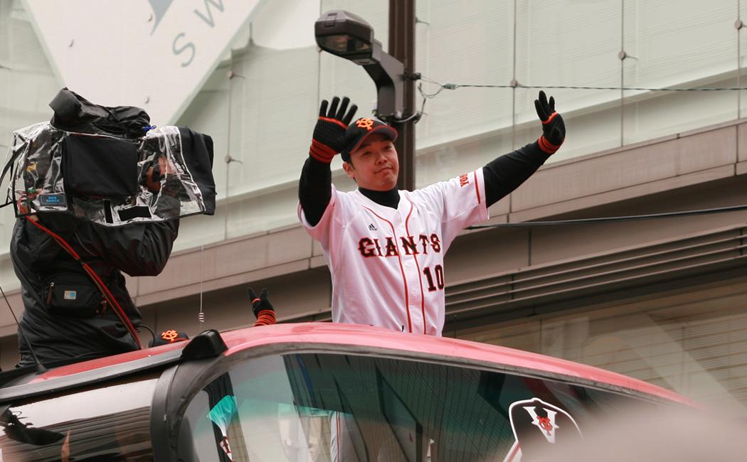 2009年ジャイアンツ日本一銀座パレードの阿部慎之助