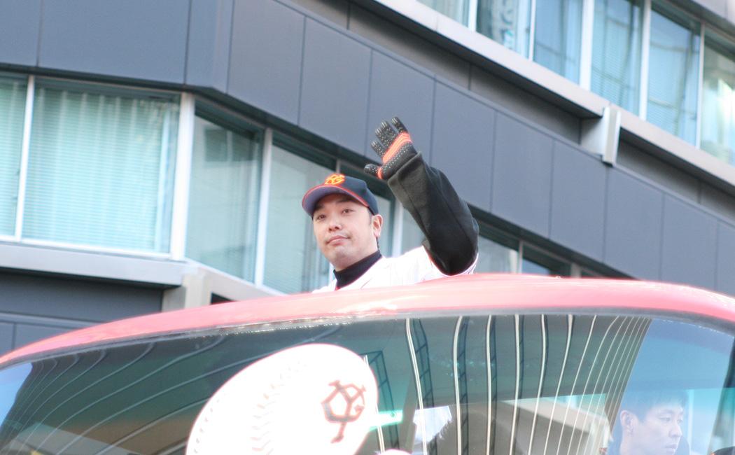 2012年ジャイアンツ日本一銀座パレードの阿部慎之助